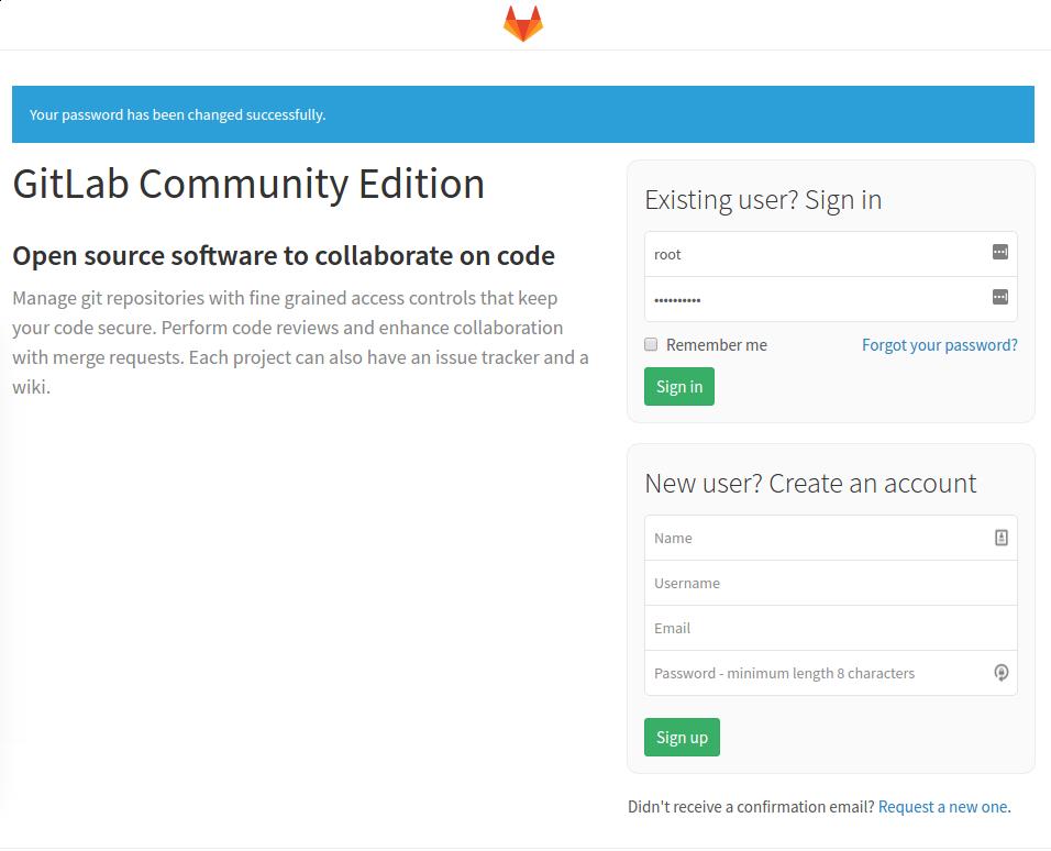 Gitlab First signin